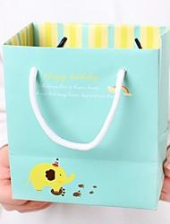 padrão elefante amarelo saco azul presente