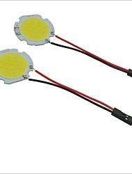 carking ™ t10 / BA9S / feston 28mm ~ 40mm 2W 15 LED COB voiture blanche plafonnier lumière (x2)