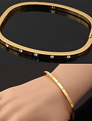 Hot Sale Style Bangle 18K Gold Platinum Plated Cuff Bracelet Austrian Rhinestone Gift for Women High Quality