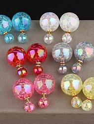 European Style Fashion Amber Pearl Earrings