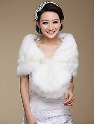 Short Sleeve Faux Fur Warm Wedding Bridal Shawls
