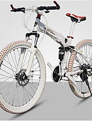 "27 Speeds Folding Bicycle BZ™ 26""X17"" Mountain Bike 60 Spokes Flat Tire Taiwan C&P Disc Brake"
