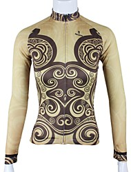 PALADIN Bike/Cycling Jersey / Tops Women's Long Sleeve Breathable / Quick Dry 100% Polyester Brown XS / S / M / L / XL / XXL / XXXL