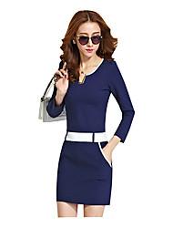 L&W Women's Slim Bodycon Dress