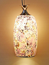 mosaico viola ciondolo in vetro