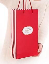sacos de presente vermelhas com amor