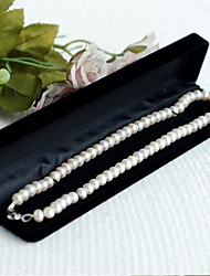 Women's High-Grade Flocking Bracelet  Necklace Brooch Jewelry Box