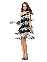 Dancewear Women's Milk Silk/Tassel Latin Dance Dress(More Colors)