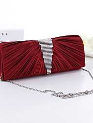 Handbag Silk Evening Handbags/Bridal Purse With Crystal/ Rhinestone