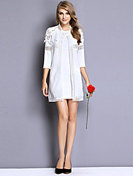Upfei Women's Cut Out Lace 3/4 Sleeve Coat