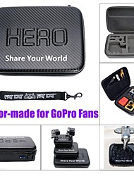 """Fat Cat 9"""" Extra Thick Anti-shock Waterproof Protective EVA Case for GoPro Hero4 / 3+ / 3 / 2 -Carbon Black"""