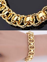 nova grande pulseira de alta qualidade pulseira 18k ouro, platina robusto pulseira banhados