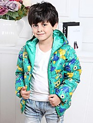 Boy's Cotton Blend Down & Cotton Padded , Winter/Spring/Fall Long Sleeve
