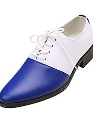 TPU White&Blue Dress Shoes