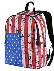 Unisex's Europe Style with USA Flag Printing  PVC Backpack