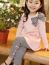 Mädchen Kleidungs Set Gestreift Baumwollmischung Winter / Frühling / Herbst Blau / Rosa