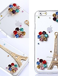 DIY Paris Tower with Rhinestones Pattern Plastic Hard Cover for iPhone 6