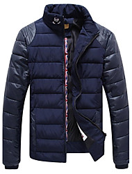 VaLS™ Men's New Standard Slim Short Warm Thick With Hit Color Sleeve Casual Cotton-Padded Jacket Overcoat