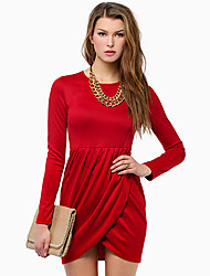 Upfei Women's Sexy Slim Fit Long Sleeve Dress Excl.Necklace