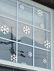 "Merry Christmas Lovely Snowflake Window Sticker (14.16""W × 9""L)"