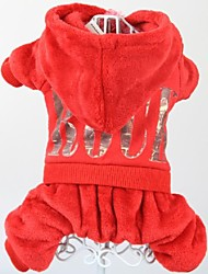 Dog / Cat Hoodie Red Winter Wedding / Cosplay