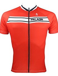 PALADIN® Cycling Jersey Men's Short Sleeve Bike Breathable / Quick Dry / Ultraviolet Resistant Jersey / Tops 100% Polyester Patchwork