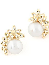 Classic Fashion Flower Pearl Temperament Earrings