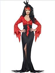 nobile incantevole strega di Halloween delle donne poliestere costume