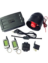 SPY 2-Way LCD Car Alarm Security System Remote Engine Start 24h Reservation Mode