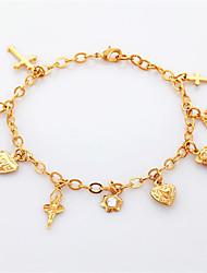 nieuwe fancy charme armband armband engel kruis hart 18k goud platina vergulde sieraden cadeau voor meisje vrouwen