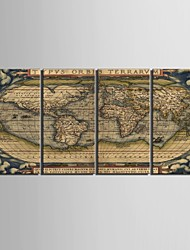 Stretched Canvas Art The World Map Of  Decorative Painting Set of 4