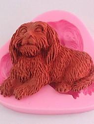 Dog Fondant Cake Chocolate Silicone Mold Cake Decoration Tools,L6.8cm*W6cm*H1.4cm