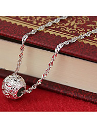 Weimei Women's Elegant Lucky Bead Silver Pendant (Not In Necklace)
