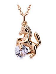 горный хрусталь темперамент лошади ожерелье Qianzi женщин