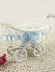 1pcs blanc panier en rotin quatre chariots de stockage naturel (livraison aléatoire)