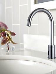 Brass Sensor Chrome Finish Bathroom Sink Faucet
