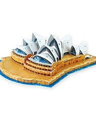 Assembly Building Model The Sydney Opera House 3D Puzzle Educational Toys 50cm 3D Jigsaw Puzzles with 58pcs