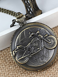 Men's Bike Alloy Analog Quartz Pocket Watch (Bronze) Cool Watch Unique Watch Fashion Watch
