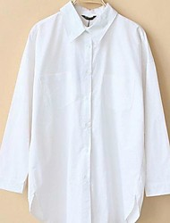 Women's Korean Loose Back Zipper Long Sleeve Blouses