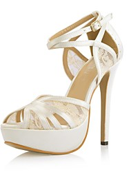 Women's Wedding Shoes Heels/Peep Toe/Platform Sandals Wedding/Party & Evening Ivory