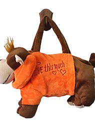 Monkey Design Plush Toys Soft Hand Bag