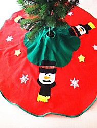 Christmas Tree Skirt Decoration Snowman Diameter 100CM