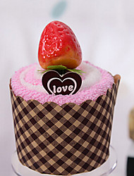 Christmas Gift Cupcake with Strawberry Towel (100% Cotton,20*20cm)