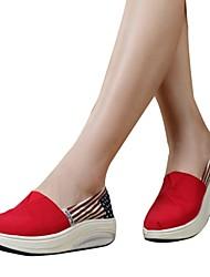 Zapatos de mujer ( Rojo/Blanco Tejido