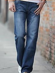 rectos pantalones de pantalones de mezclilla de los hombres (más colores)