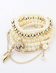 Women's  Multi-cat Pearl Stretch Bracelet