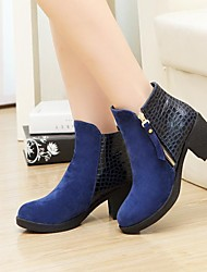 Women's Shoes Round Toe Chunky Heel Ankle Boots More Colors available