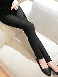 Women's Pocket Elastic Pleated Leggings