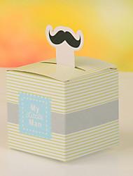 Mustache Stripes Design Favor Box-Set Of 12(More Colors)