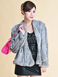 Fur Coats Long Sleeve Collarless Rabbit Fur Special Occasion/Casual Jacket(More Colors)